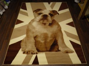 Modern 7x5ft 150x210cm Woven Backed Bulldog Rug Top Quality Beige/Brown BARGAINS